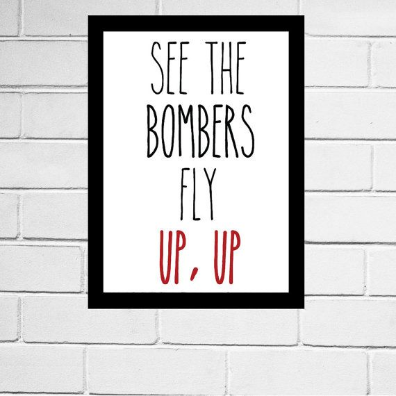 Essendon Bombers - AFL club song print - Digital Download - All AFL clubs available