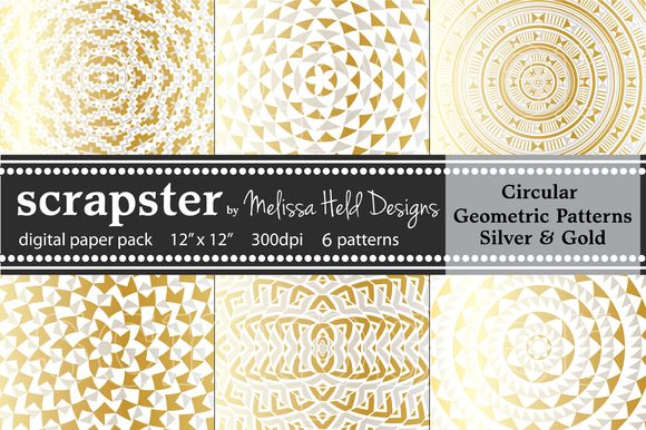 Circular Patterns: Silver & Gold by scrapster on Creative Market