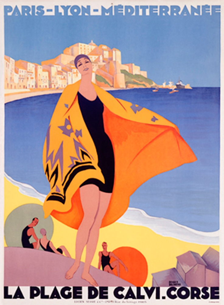 Vintage French Posters Art Deco french travel poster 1...