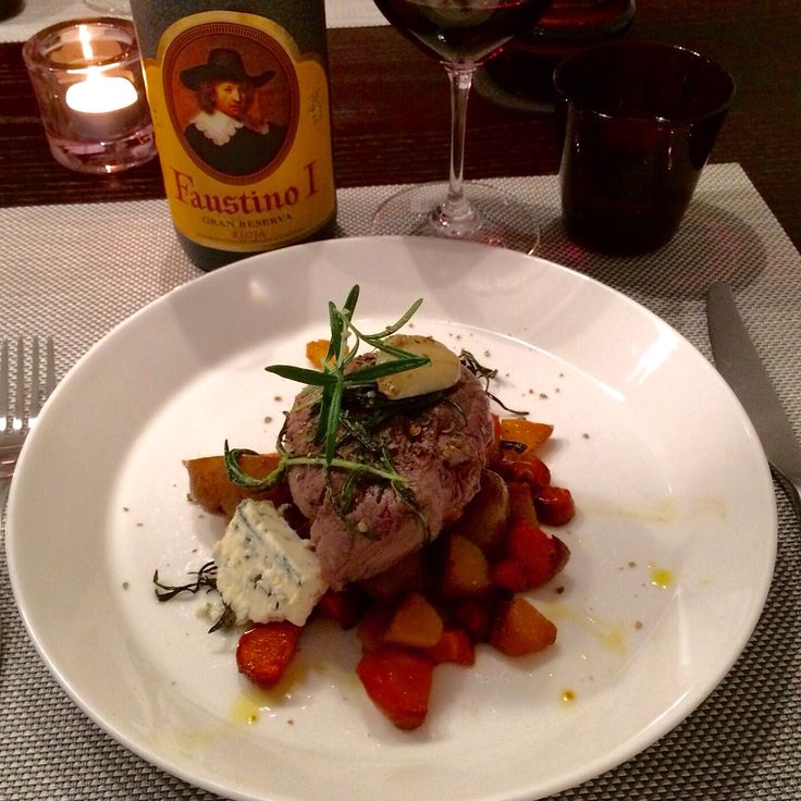 Fillet steak with Faustino