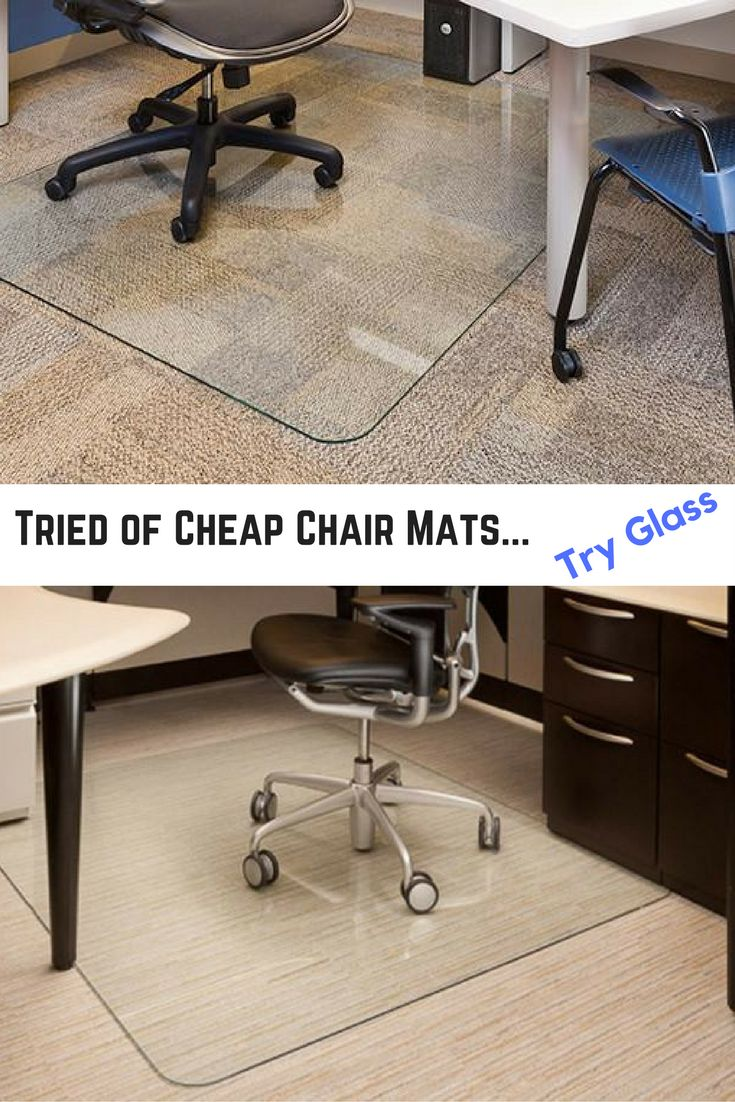 An Upgrade From Your Typical Office Desk Chair Mat. Glass Chair Mat That Is  Smooth