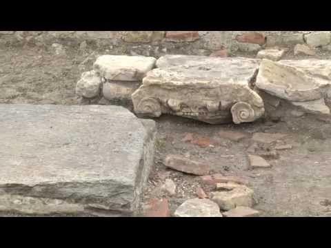 Scavi archeologici a San Severo, Ravenna, Italy.
