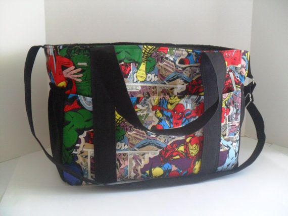 Extra Large Diaper bag Made of Marvel / Avengers by fromnancy