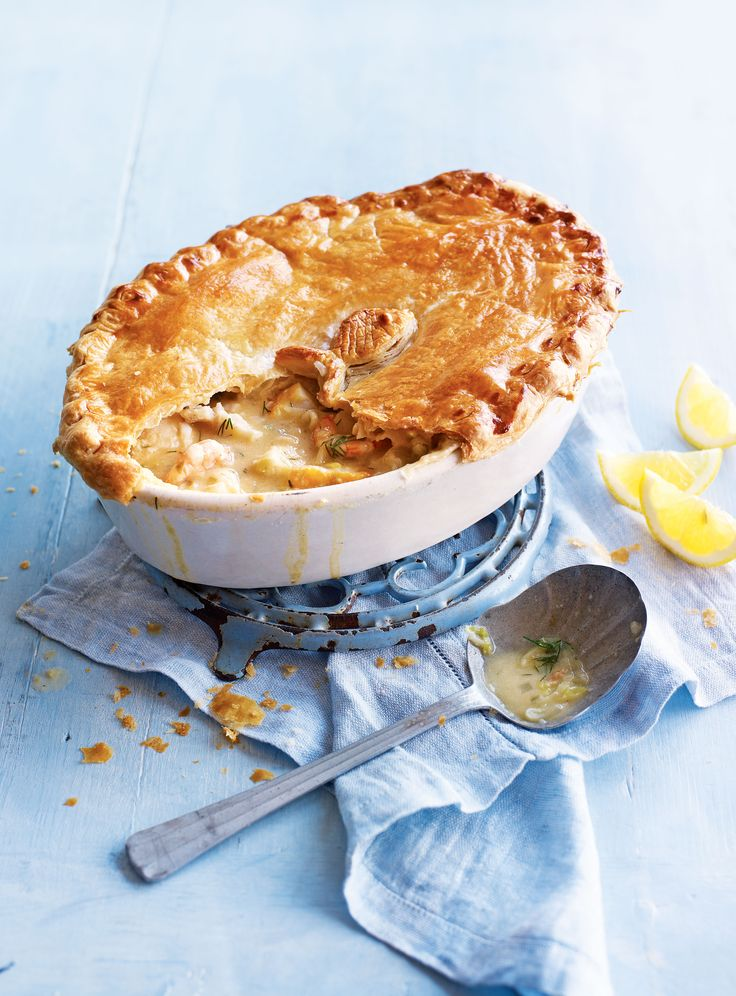 Capers give the seafood filling a natural saltiness and the buttery, melt in the mouth pastry topping makes this fish pie recipe a firm favourite.