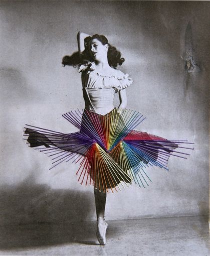 DANCE - Jose Romussi  Beautiful photographs with embroidery on top of it.