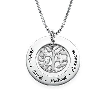 Personalised Silver Family Tree Necklace | MyNameNecklace