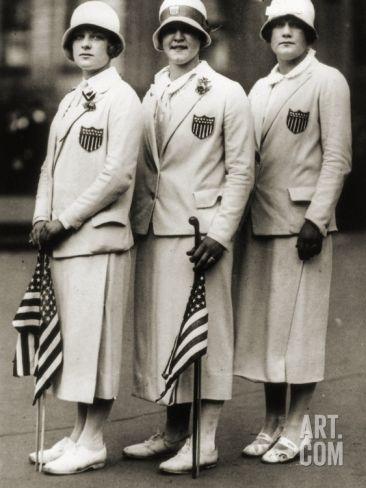 Aileen Riggin, Gertrude Ederle, Helen Wainwright, Three American Olympic Swimming Champions, 1924 Photographic Print