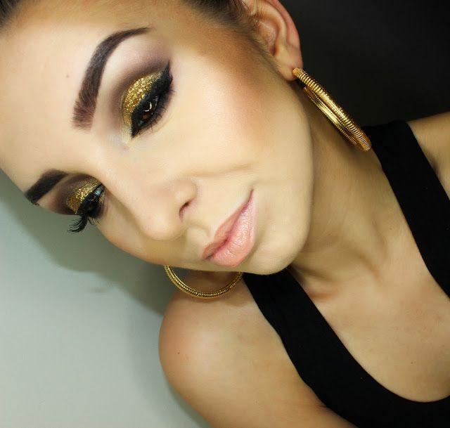 Daria Kłosowicz beauty blog: Gold glitter