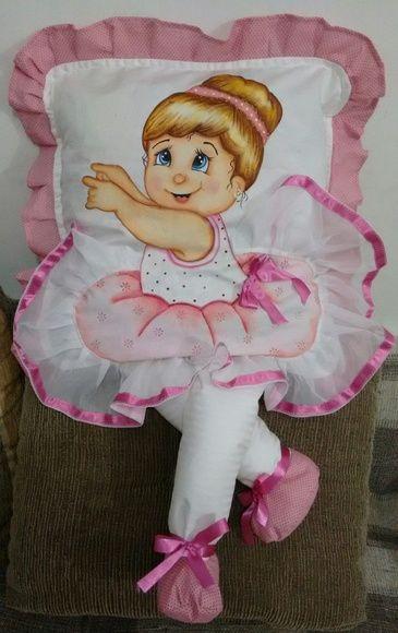 Capa para almofada bailarina