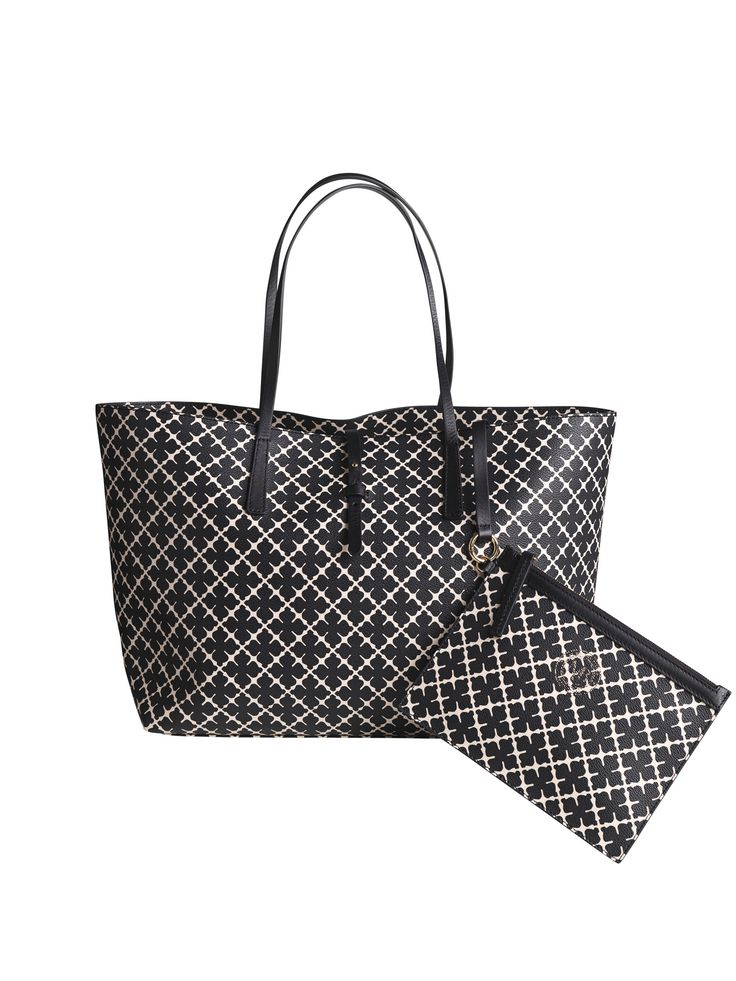 Patterned with By Malene Birger's signature Arabian Flower motif and the house insignia, this spacious shoulder bag is large enough to carry all your essentials and more. With a detachable zipped purse for valuables, and practical carry handles, this daytime style will fast become a go-to.