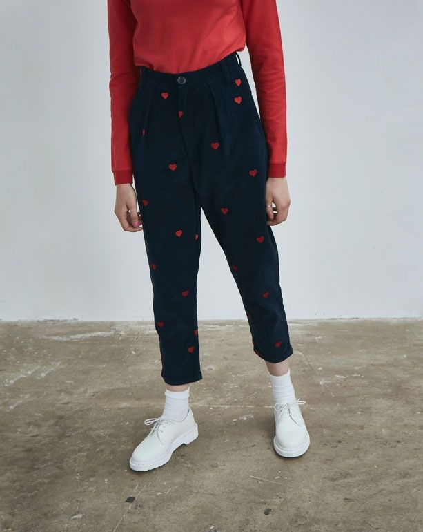 Lazy Oaf Heart Emb Cord Pants - Everything - Categories - Womens
