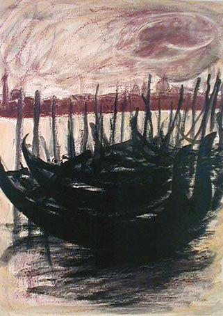 三岸節子,Migishi setsuko, (Japanese, 1905-1999.)  Venice 1..
