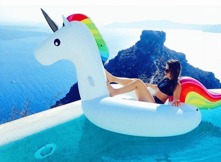 Riesen Pool Einhorn 🦄 in der Karibik 🎈 Karibik