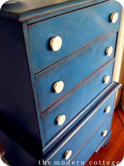 dresser do over- nice blue painted furniture