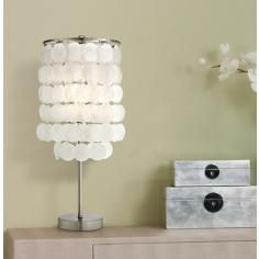 Margaux Ivory Shell Shade Accent Lamp