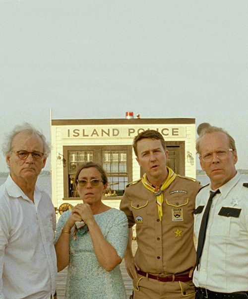 """Moonrise Kingdom"", (2012) starring Bill Murray, Frances McDormand, Edward Norton and Bruce Willis."