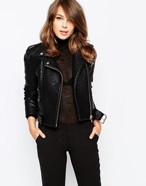 French Connection Generation Biker Jacket in Faux Leather #FixedOnFall