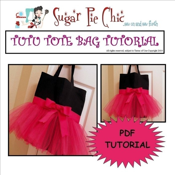 Love the tutu bags! Would be so cute for as a bag for dance class!