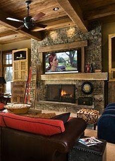 Best 20 Tv Above Mantle Ideas On Pinterest Tv Above