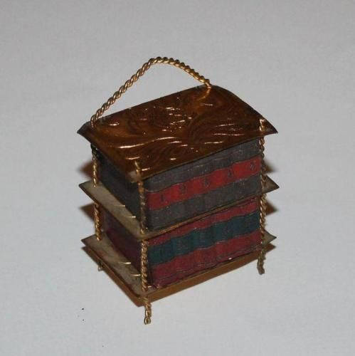 Vintage-Dolls-House-Antique-Erhard-Sohne-Ormolu-Book-Case-Books