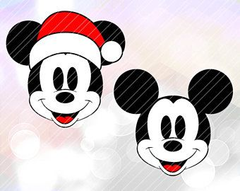 181132449367a Mickey Mouse Christmas Santa Hat SVG DXF Pdf Cutting File Cricut Design  Space Cameo Silhouette Studio Vinyl Cut File Screen Printing Disney