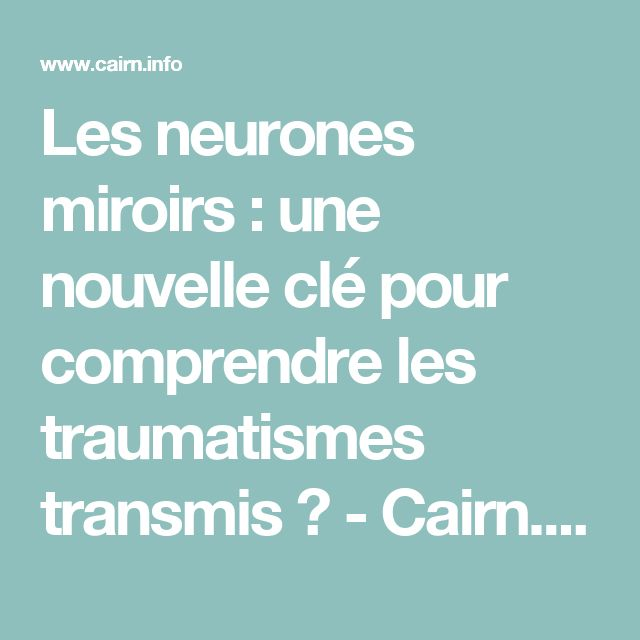 1000 id es sur le th me neurones sur pinterest for Neurones miroir