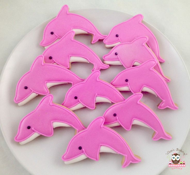 Pink dolphin cookies, dolphin cookies