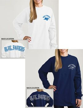 Product: Middle Tennessee State University Women's Football Long Sleeve T-Shirt