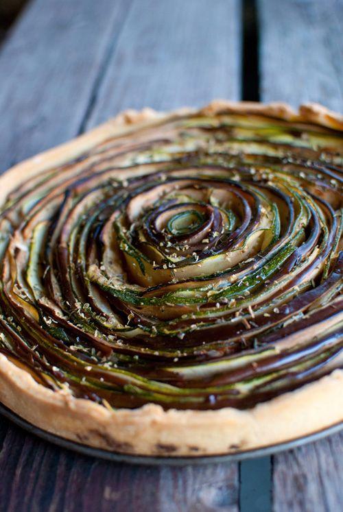 Dine & Dash: eggplant & zucchini rose tart