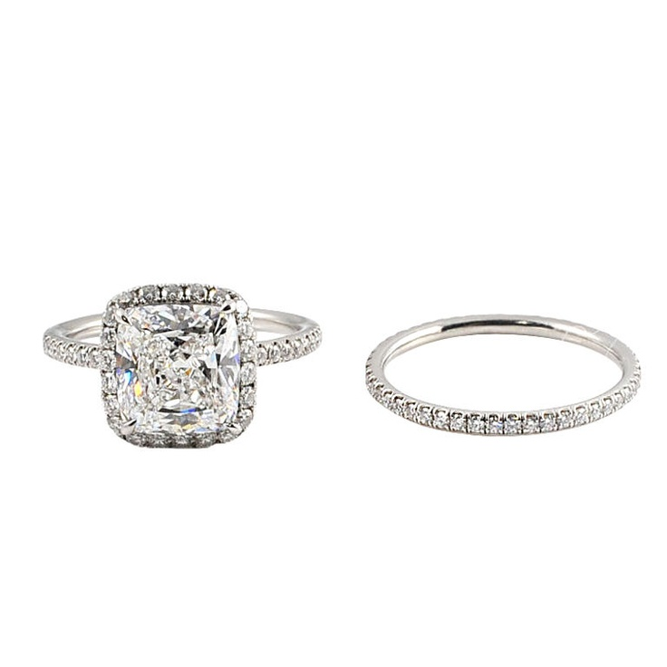 HARRY WINSTON Diamond Engagement Ring And Eternity Band Set Diamond Engagem