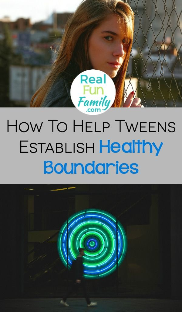 How your tween sets up his or her boundaries is vital. Healthy boundaries have a direct impact on every area of life. Teach them now how to do it right.  via @realfunfamily