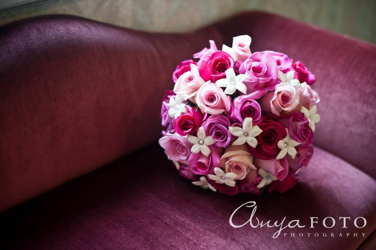 anyafoto.com, wedding bouquet, bridal bouquet, pink bouquet, pink rose bouquet, rose bouquet, multicolored bouquet, roses, pink wedding