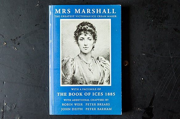 """Ice Cream Through the Ages/1885: Mrs. Marshall's """"Cheap"""" Ice Cream (and Cones Too) Let's jump ahead to Victorian England and take a look into the life of Mrs. Agnes B. Marshall, a prominent ice cream monger who did a lot to bring ice cream to the masses. Mrs. Marshall patented her own ice cream maker, and tinkered with using liquid nitrogen to make ice cream. Her Book of Ices includes a recipe for """"Cornets with Cream,"""" which may be the first publication of the ice cream cone."""