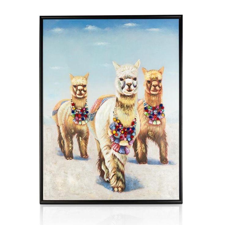 Alpaca glory schilderij de leukste schilderijen pinterest schilderijen - Kleuren schilderij eetkamer ...