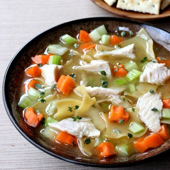 Don't throw away the turkey carcass after Thanksgiving, make Homemade Turkey Soup! The best soup ever starts from scratch.