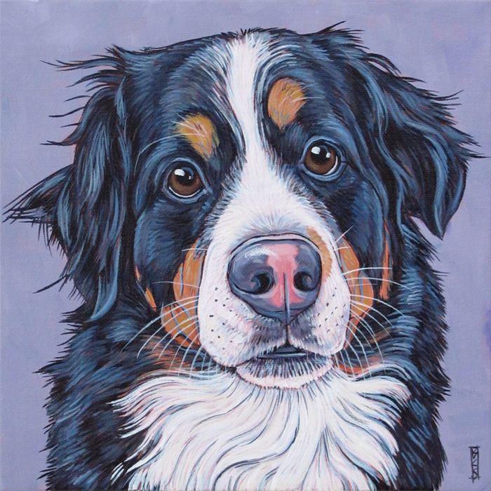 Pet Portraits Paintings Acrylics