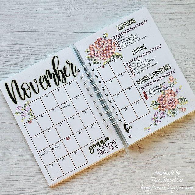 With each passing month I feel more and more confident that this way of planning, I mean BuJo, is what I was looking for)) * * * С каждым месяцем такой вариант ведения планера мне нравится всё больше! Так и хочется заглянуть в него лишний раз, глаз порадовать)) * * * #tinastepanova_bujo #tinastepanova #bulletjournal #bulletjournalnovember #bujo#minimalistbujo#showmeyourplanner #bulletjournalcollection #bulletjournalling #bujoaddict #bujoinspire #bulletjournalcommunity #planner#plannerlove…