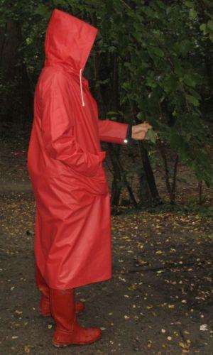 PVC-Gummi-Regenmantel-Mantel-Rubber-Raincoat-Friesennerz-Vintage