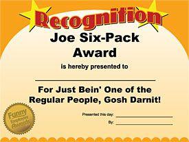 Best 25+ Funny certificates ideas on Pinterest