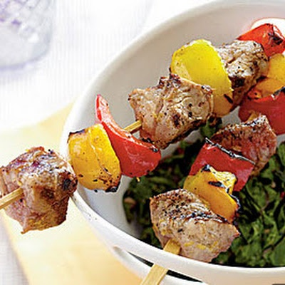 Tuscan Pork Kebabs - simple, yummy, summer time!