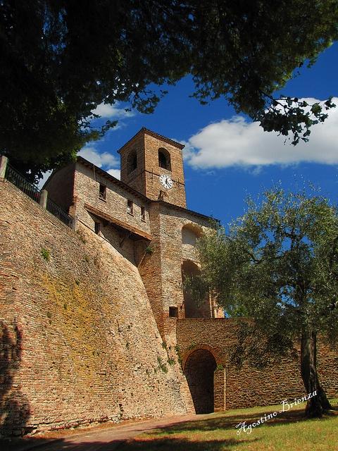 Montegridolfo, medieval fortress near Cattolica, RImini area