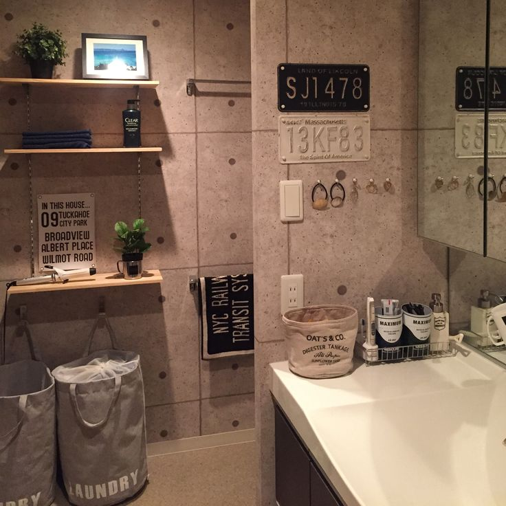 NO GREEN NO LIFE/DIY棚/コンクリート風壁紙/パイン材…などのインテリア実例 - 2015-11-05 21:49:16 | RoomClip(ルームクリップ)