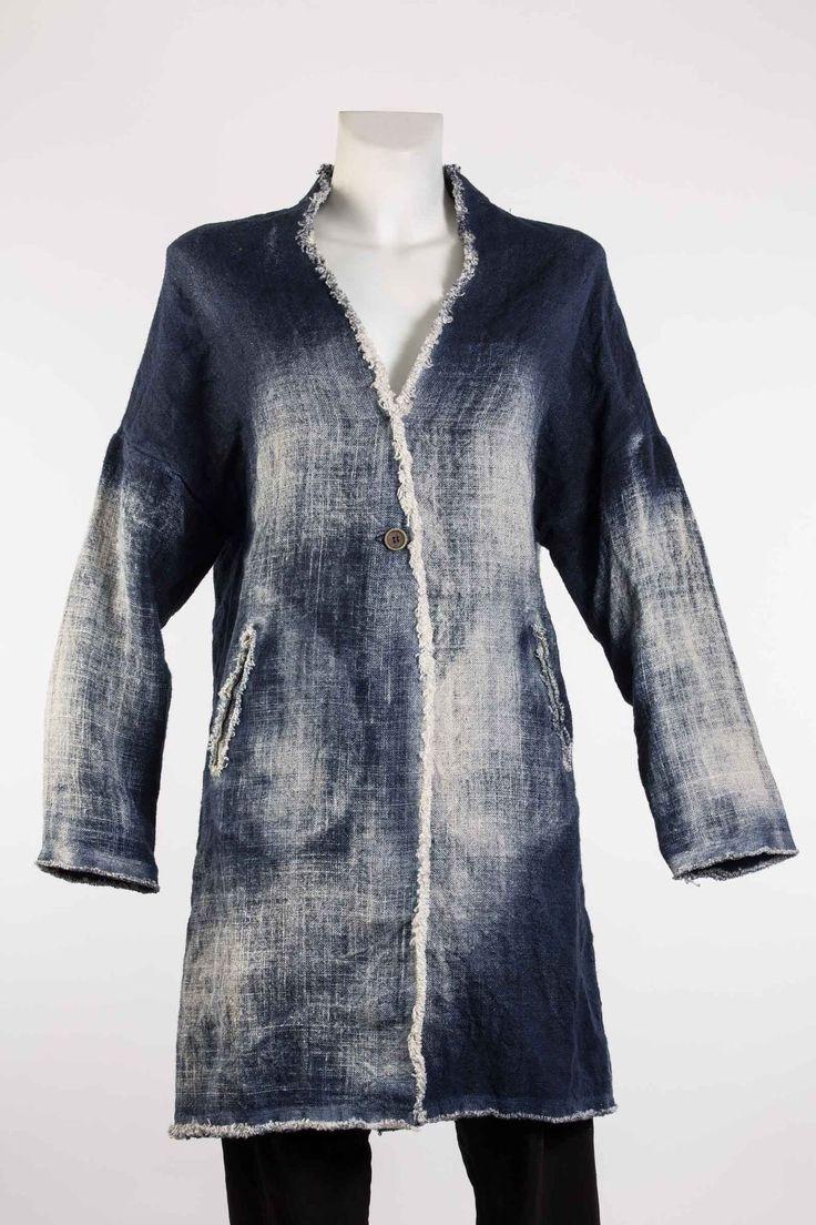 Mantel damen von blauer