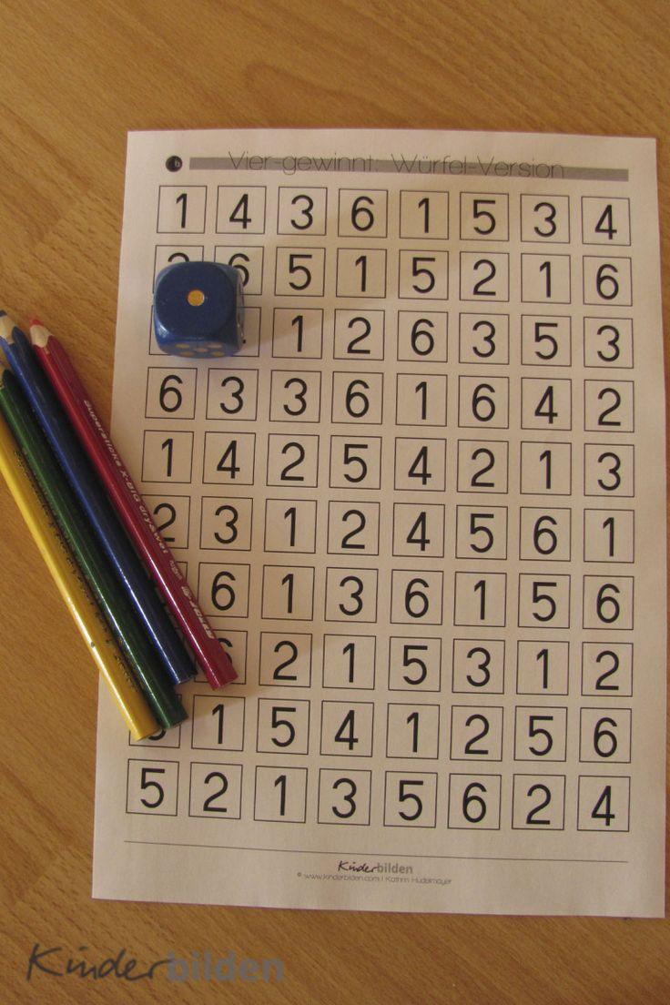 spielen lernen mit w erfeln 4 gewinnt schule mathe f r vorschulkinder montessori mathe. Black Bedroom Furniture Sets. Home Design Ideas