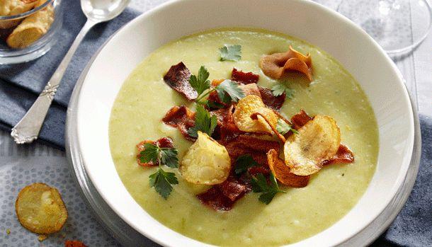 Grøn kartoffelsuppe med
