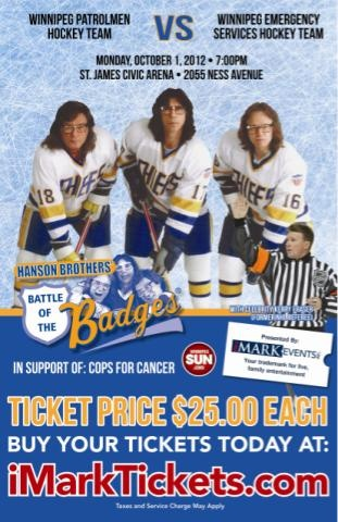 Hey Slap Shot fans, the Hanson Brothers will be at Pro Hockey Life Winnipeg to check out our Megastore.  Come by and say hi and grab an autograph.    When? Monday October 1st 4:30pm  Where?  PHL Winnipeg  860 St. James Street (across from the Stadium)  Winnipeg, MB  R3G 3J7  Tel: (204) 788-1761