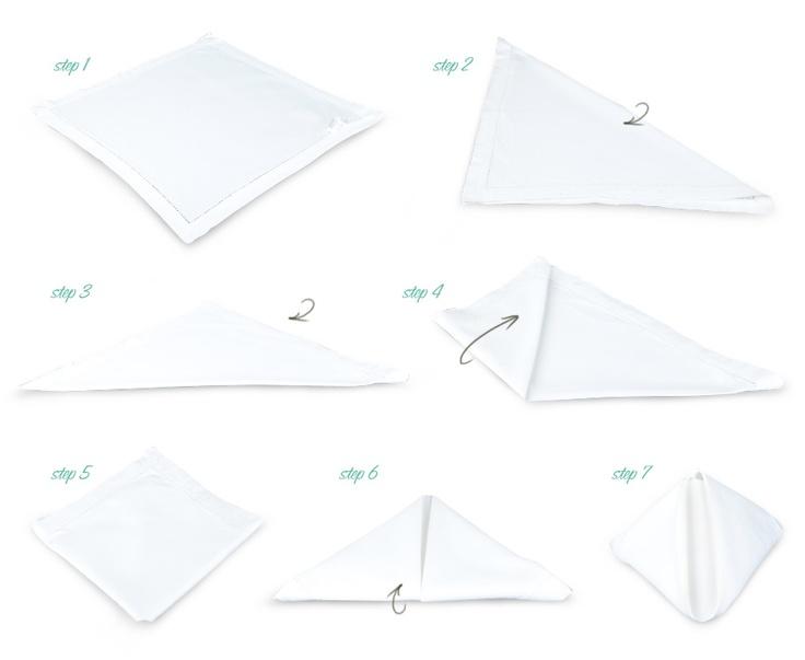 Napkin folding for dinner parties