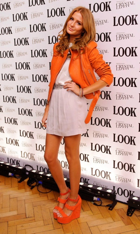 millie macintosh | In love with this orange leather jacket!