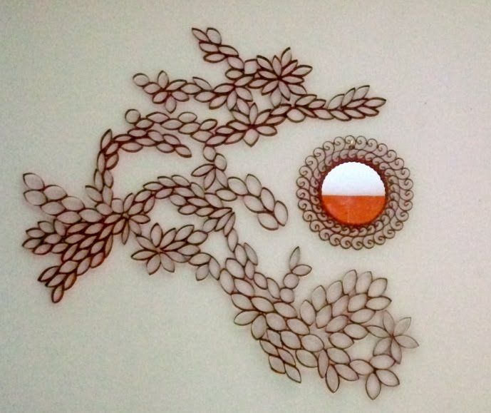Wall Decor Made From Toilet Paper Rolls. Has To Be The Cutest Toilet ...