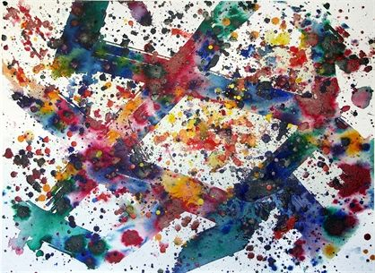 An iconic work by Sam Francis